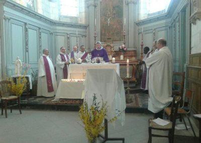 Célébration de la Messe à l'église du Plessier sur St Just