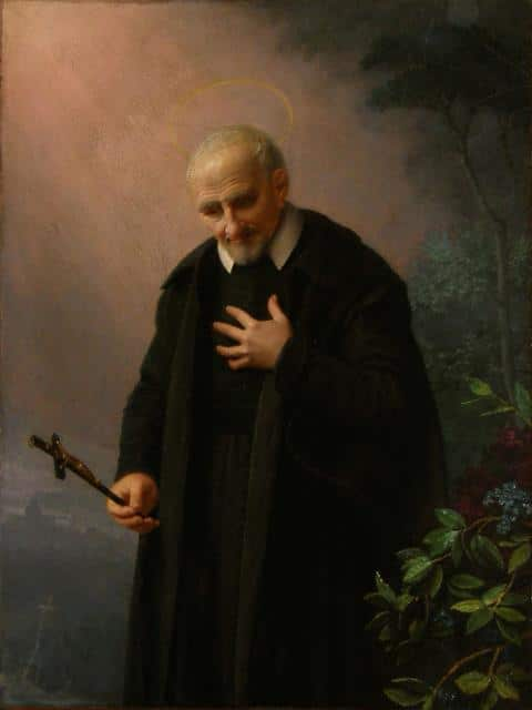 SVP France, Paris, Vincent de Paul contemplating crucifix, 3_JPG