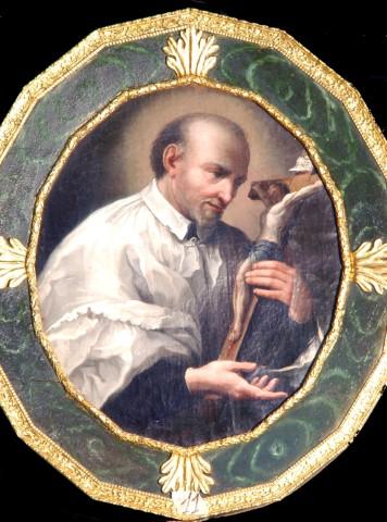 SVP Italy, St. Vincent venerating crucifix_jpg