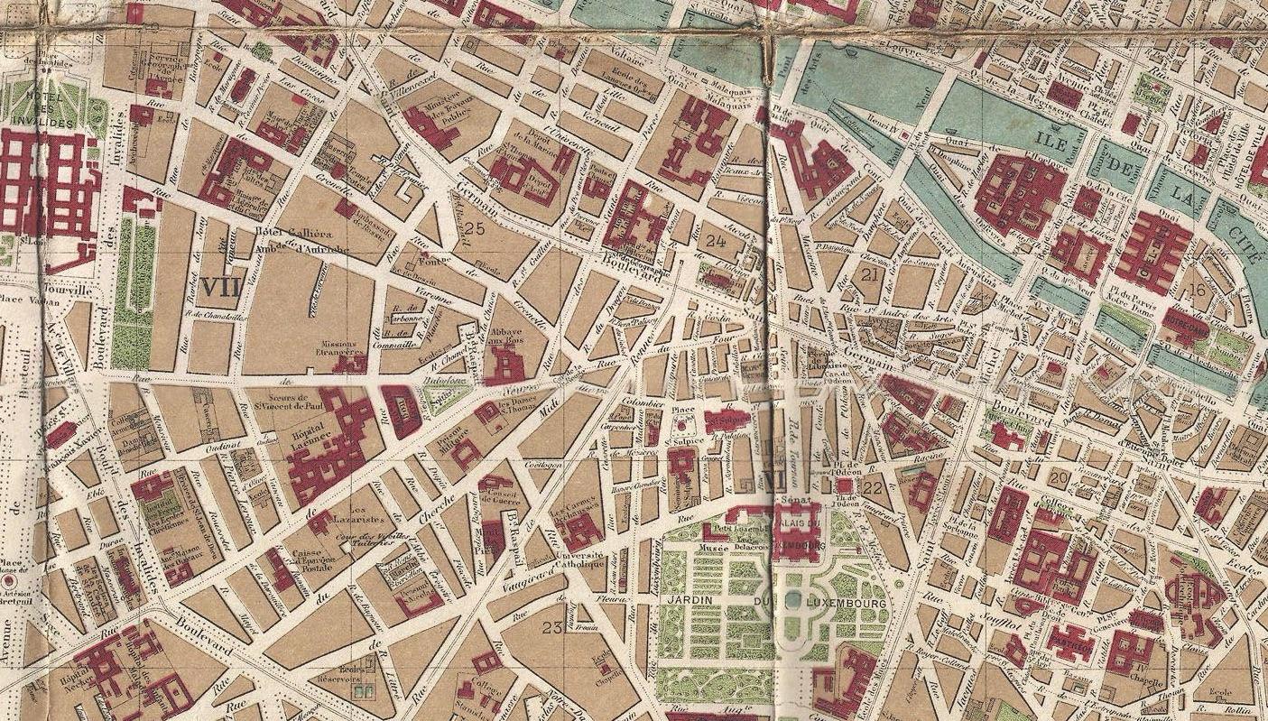 Plan de Paris. 1894. Détail